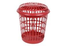 Καλάθι απλύτων Φ39 εκ. διάτρητο χρ. κόκκινο