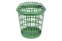 Καλάθι απλύτων Φ39 εκ. διάτρητο χρ. πράσινο