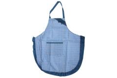 Ποδιά κουζίνας υφασμάτινη με τσέπη χρ. μπλε καρώ