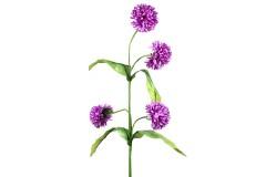 Διακοσμητικό λουλούδι ντάλια με 4 άνθη χρ. μωβ