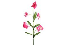 Διακοσμητικό λουλούδι ορχιδέα με 5 άνθη χρ. φούξια