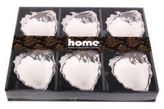 Μπωλ παγωτού - γλυκού πορσελάνης χρ. ασημί τεμ. 1