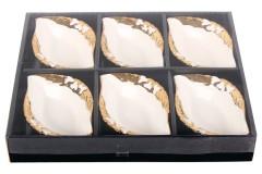 Μπωλ παγωτού - γλυκού πορσελάνης χρ. χρυσό τεμ. 1