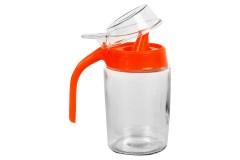 Μελιέρα γυάλινη 300 ml χρ. κόκκινο