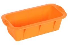 Φόρμα σιλικόνης ορθογώνια 25,5Χ13,5Χ7 εκ. χρ. πορτοκαλί