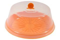 Τουρτιέρα πλαστική Φ30 εκ. χρ. πορτοκαλί