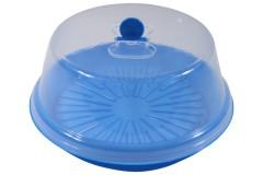 Τουρτιέρα πλαστική Φ30 εκ. χρ. μπλε