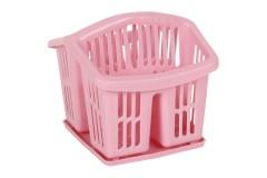 Κουταλοθήκη πλαστική με δίσκο χρ. ροζ