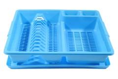 Πιατοθήκη πλαστική με δίσκο 45,5Χ37,5Χ9 εκ. χρ. μπλε