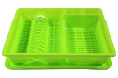 Πιατοθήκη πλαστική με δίσκο 45,5Χ37,5Χ9 εκ. χρ. πράσινο