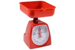Ζυγαριά κουζίνας 5 κιλών με κάδο χρ. κόκκινο