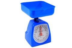 Ζυγαριά κουζίνας 5 κιλών με κάδο χρ. μπλε