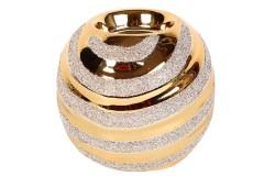 Ρεσώ - κηροπήγιο κεραμικό Φ9Χ8,5 εκ. χρ. χρυσό