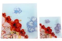 Σετ πάστας 7 τεμ. γυάλινο σχ. λουλούδι