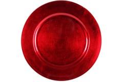 Πιατέλα πλαστική Φ33 εκ. χρ. κόκκινο