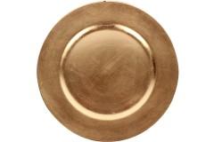 Πιατέλα πλαστική Φ33 εκ. χρ. χρυσό