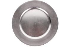 Πιατέλα πλαστική Φ33 εκ. χρ. ασημί