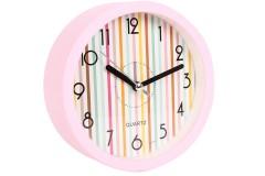 Ρολόι ξυπνητήρι στρογγυλό Φ11,5Χ4 εκ. χρ. ροζ