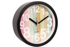 Ρολόι ξυπνητήρι στρογγυλό Φ11,5Χ4 εκ. χρ. μαύρο ριγέ