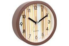 Ρολόι ξυπνητήρι στρογγυλό Φ11,5Χ4 εκ. χρ. καφέ