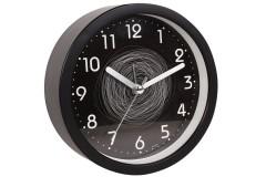 Ρολόι ξυπνητήρι στρογγυλό Φ11,5Χ4 εκ. χρ. μαύρο με κύκλους