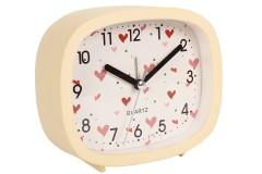 Ρολόι ξυπνητήρι ορθ. 12Χ4Χ10 εκ. με παραστάσεις σχ. LOVE