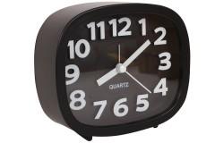 Ρολόι ξυπνητήρι 12Χ4Χ10 εκ. χρ. μαύρο
