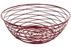 Φρουτιέρα μεταλλική Φ26Χ9,5 εκ. χρ. κόκκινο