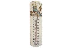 Θερμόμετρο χώρου μεταλλικό 7Χ27 εκ. σχ. πουλί