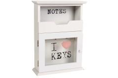 Κλειδοθήκη ξύλινη χρ. λευκό