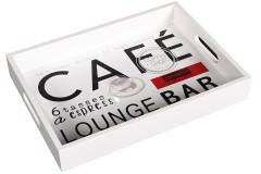 Δίσκος σερβιρίσματος ξύλινος 35Χ25,5Χ5 εκ. σχ. CAFE
