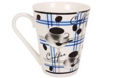 Κούπα πορσελάνης 340 ml σχ. COFFEE χρ. μπλε