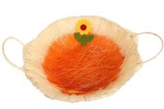 Πασχαλινό καλάθι Φ28Χ7 εκ. χρ. πορτοκαλί