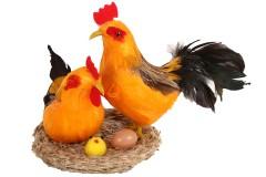 Διακοσμητικές κότες και πουλάκια Φ20Χ13 εκ.