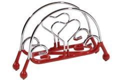 Χαρτοπετσετοθήκη μεταλλική με αντιολ. πάτο χρ. κόκκινο