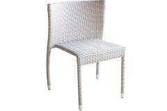 Καρέκλα αλουμινίου με επένδυση Wicker χρ. πάγου