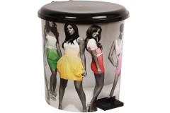 Κάδος μπάνιου πλαστικός Φ23,5Χ26 εκ. σχ. GIRLS