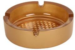 Τασάκι γυάλινο στρογγυλό Φ10,5Χ3,2 εκ. χρ. χρυσό