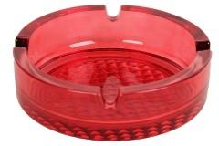 Τασάκι γυάλινο στρογγυλό Φ10,5Χ3,2 εκ. χρ. κόκκινο