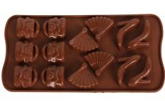 Φόρμα σιλικόνης για σοκολατάκια 20,5Χ10,5 εκ. σχ. ΤΣΑΝΤΑ-ΒΕΝΤΑΛΙΑ-ΓΟΒΑ