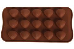 Φόρμα σιλικόνης για σοκολατάκια 20,5Χ10,5 εκ. σχ. ΚΟΧΥΛΙ