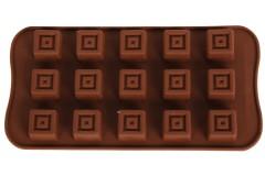 Φόρμα σιλικόνης για σοκολατάκια 20,5Χ10,5 εκ. σχ. ΤΕΤΡΑΓΩΝΟ