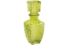 Μποτίλια – καράφα γυάλινη τετράγωνη με πώμα 250 ml χρ. πράσινο