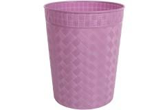 Καλάθι αχρήστων πλαστικό Φ25Χ29,5 εκ. χρ. μωβ