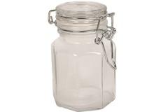 Βάζο αποθήκευσης γυάλινο 100 ml με λάστιχο λευκό
