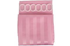 Κουρτίνα μπάνιο υφασμάτινη ριγέ 180Χ180 εκ. χρ. ροζ