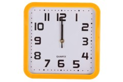 Ρολόι τοίχου 23Χ23 εκ. χρ. κίτρινο