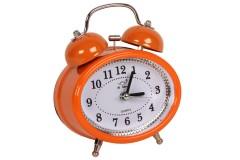 Ρολόι ξυπνητήρι οβάλ Φ10Χ12 εκ. χρ. πορτοκαλί