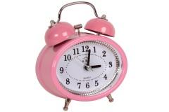 Ρολόι ξυπνητήρι οβάλ Φ10Χ12 εκ. χρ. ροζ