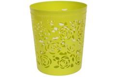 Καλάθι αχρήστων πλαστικό διάτρητο Φ26Χ30 εκ. χρ. πράσινο